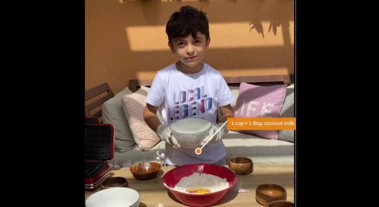 Karim makes healthy whole grain waffles recipe - part of our coronavirus stay at home entertainment