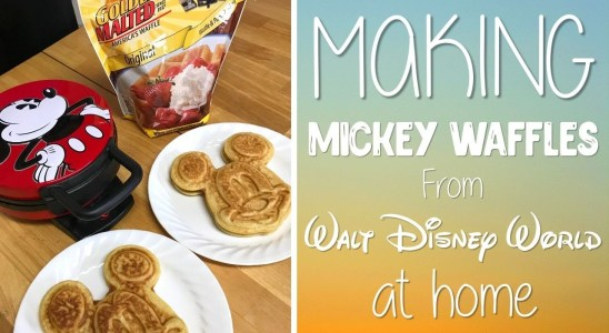 Making Mickey Waffles from Walt Disney World | Disney Recipe at Home