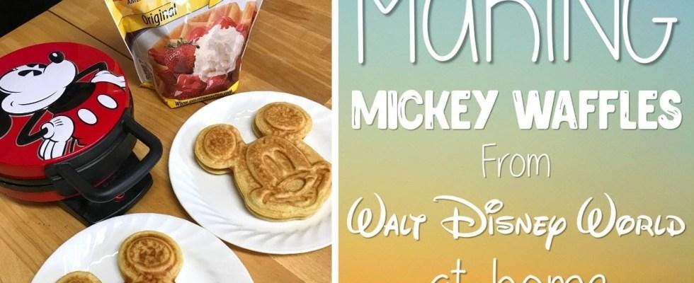 Making Mickey Waffles from Walt Disney World | Disney Recipe at Home