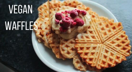 Vegan Waffle Recipe // Mina Rome