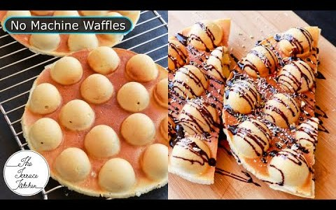 Waffle Recipe  No Machine & Sandwich Maker 1st Time On YouTube with this Method~The Terrace Kitchen