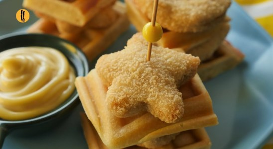 Waffle and Nugget Skewers Recipe By Food Fusion
