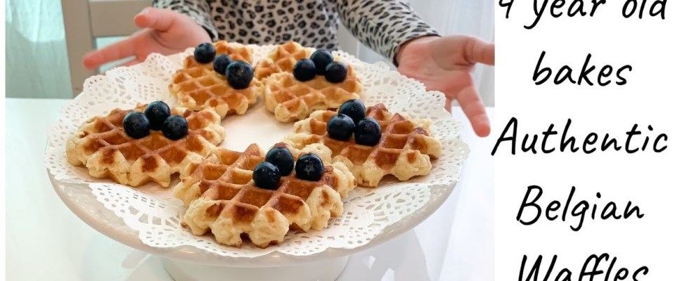 Authentic Belgian Waffles recipe by 4 year old girl EASY!