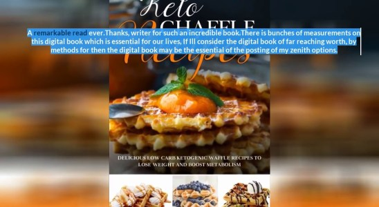 Best Reviews - Keto Chaffle Cookbook: Tasty Ketogenic Waffles Recipes to Eat Healthy Low Carb F...
