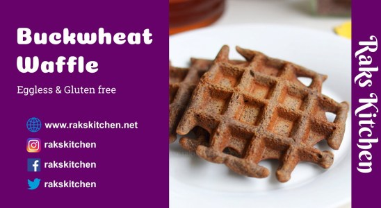 Buckwheat waffles recipe, eggless gluten free healthy waffles, yet delicious