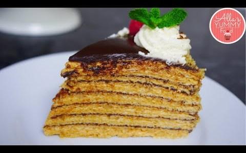 Chocolate & Walnut Waffle Cake Recipe   How to make Russian Waffle Cake