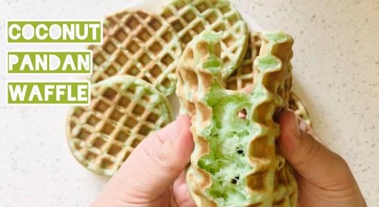 Coconut Pandan Waffles Recipe | OH SO YUMMY
