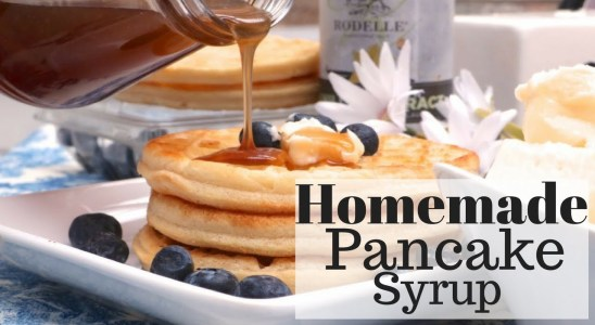 How To Make Homemade Pancake Syrup Recipe  (Butter-Maple)