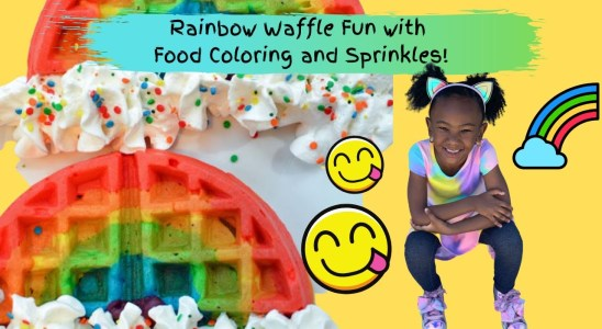 Rainbow Waffles Recipe for Kids | Watch the Mess We Make!