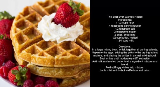 The Best Ever Waffles Recipe | Easy Cooking Channel