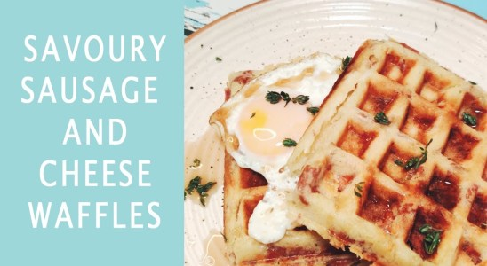 Breakfast Recipes | Sausage and Cheese Waffle with Fried Egg | Recipe Video