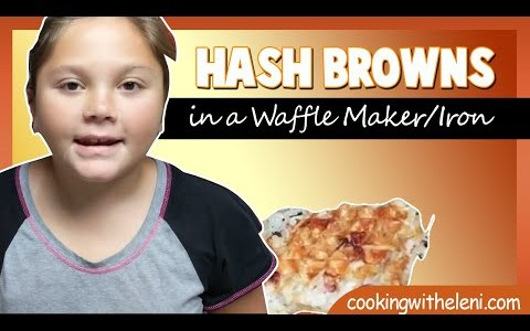 Easy to make Recipe - How to Make Hash Browns in a Waffle Maker/Iron