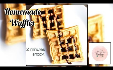 Homemade Waffles / How To Make Waffles In Home / Easy Snack Recipe