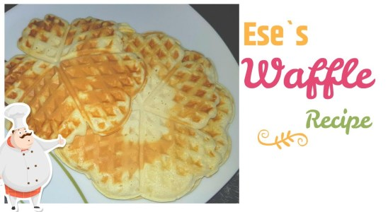 Homemade yummy waffles recipe
