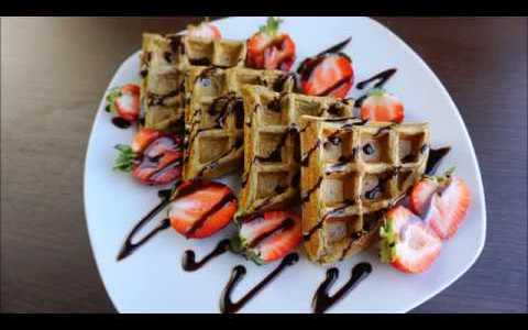 Low Carb Protein Mocha Matcha Waffles Recipe
