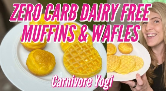 ZERO CARB - DAIRY FREE MUFFINS & WAFFLES (CHAFFLES) BY CARNIVORE YOGI - Carnivore diet recipes