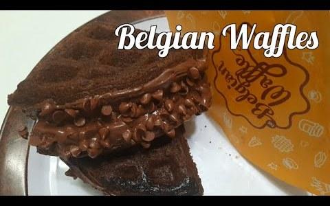 Belgian Waffles Recipe | Easy Homemade Belgian Waffle Recipe | Eggless Crispy Waffle | Waffle recipe