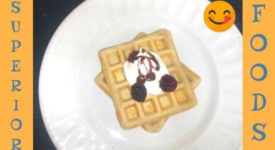 Easy Homemade Belgian Waffle Recipe-Using wholemeal and without using baking powder