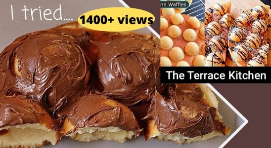 """I tried creative Waffles Recipe by """"THE TERRACE KITCHEN"""" (Eggless, No Waffle Maker) 