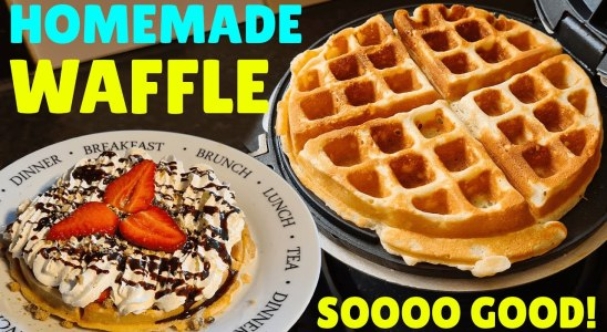 Perfect Homemade Waffles Recipe | How to Make Waffles At Home