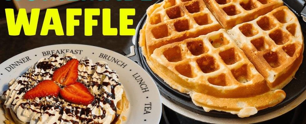 Perfect Homemade Waffles Recipe | How to Make Waffles At Home