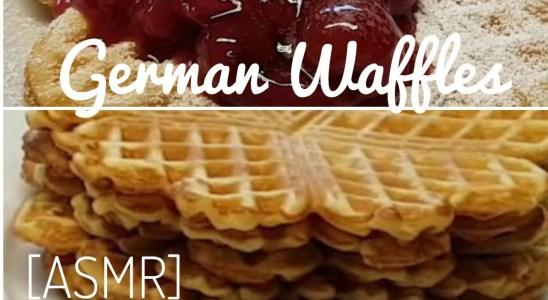 [ASMR] German Waffles (quick & easy)