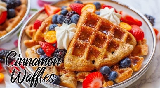Cinnamon Sugar Buttermilk Waffles - Super Fluffy!