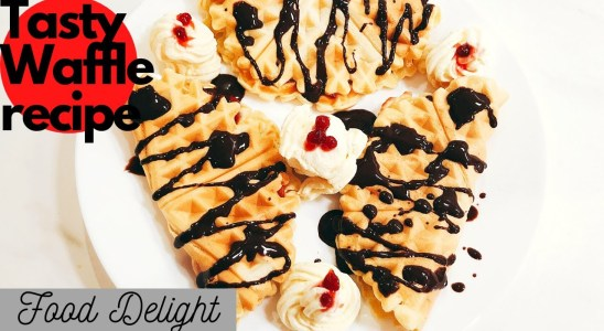 Dlicious Waffles made by my son - Food Delight
