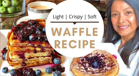 EASY WAFFLE RECIPE - MAKE AHEAD BATTER