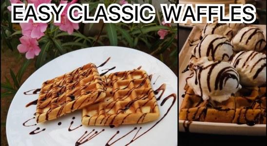 Perfect homemade waffles recipe|classic waffles |crispy & fluffy waffles|waffle recipe in malayalam