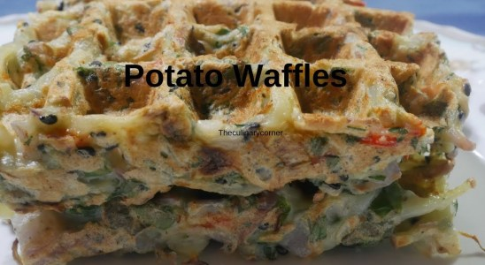 Potato waffles [ Vegan & Vegetarian Friendly]