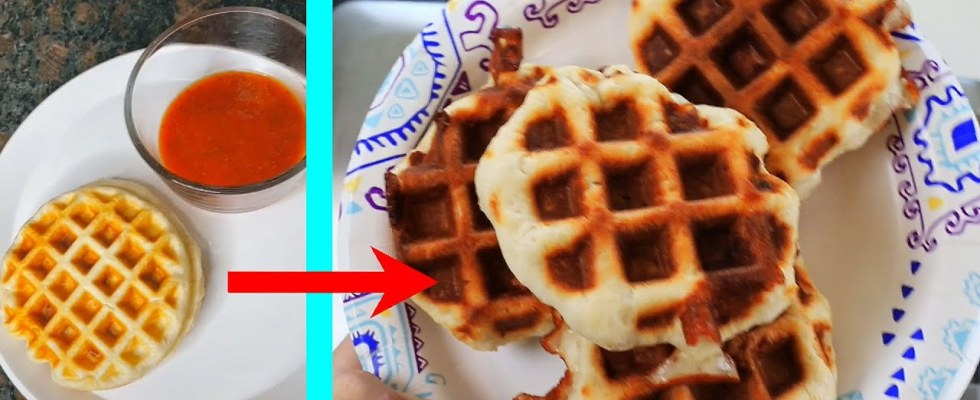 Tiny Waffles Recipe from TRYING Crazy TIK TOK Food Hacks and Cooking Recipes