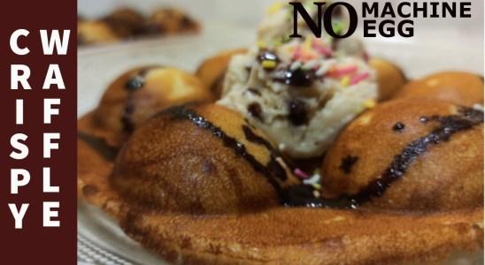 Waffle Recipe, No MACHINE, No SANDWICH MAKER, No EGG    Chocolate waffle   Waffle with Icecream