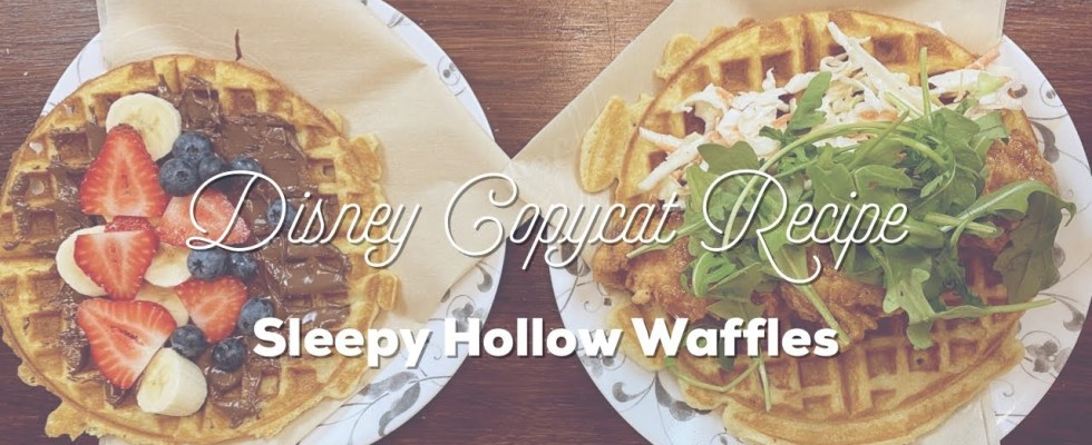 Disney Recipes at Home | Sleepy Hollow Waffle Sandwiches - Liberty Square, Magic Kingdom