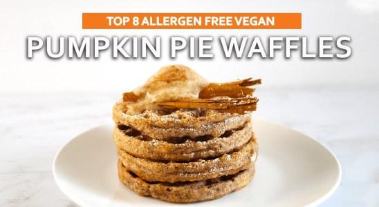 Gluten Free Vegan Pumpkin Waffles Recipe (Soy Free & Nut Free)