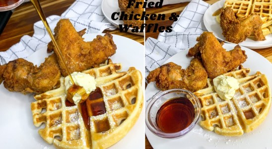 How to make Fried Chicken & Waffles|| Crispy Fried Chicken|| Waffles||