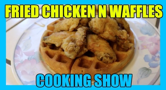 LEMON PEPPER CHICKEN N WAFFLES RECIPE (cooking video)