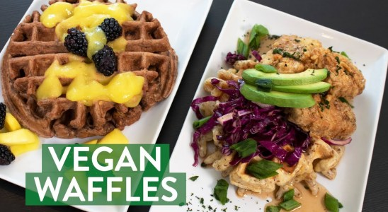 Sweet and Savory Plantain Waffles | Vegan Chicken and Waffles | Cooking with Compare