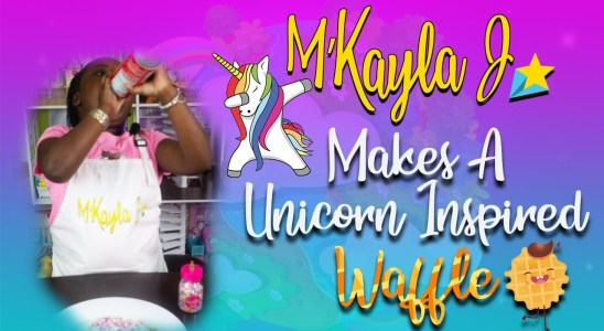 quick and easy unicorn homemade waffles recipe
