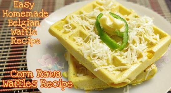 Corn Rawa Waffle Recipe || Belgian Waffle Recipe || Easy & Tasty Homemade Belgian Waffle Recipe ||