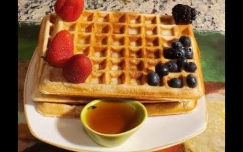 Easy Homemade Waffle Recipe | How to Make waffle Crispy and Fluffy diy recipes