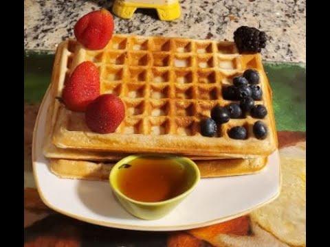 Easy Homemade Waffle Recipe   How to Make waffle Crispy and Fluffy diy recipes