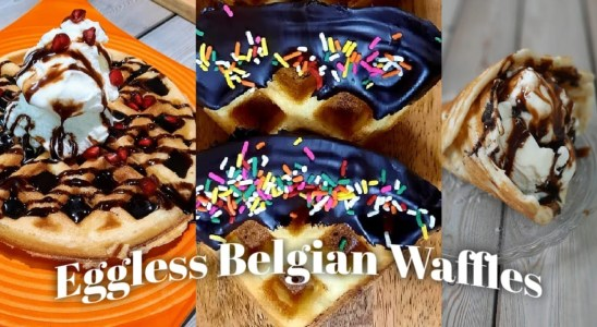 Eggless Waffles With & Without Waffle Maker | ScrumYum