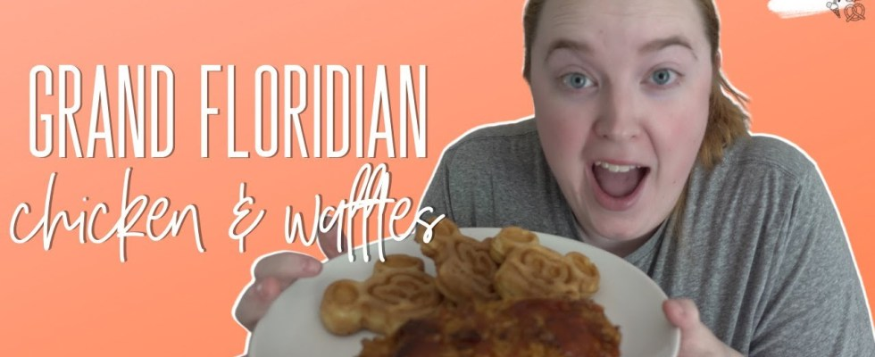 Grand Floridian Cafe Chicken & Mickey Waffles   Disney Recipes at Home