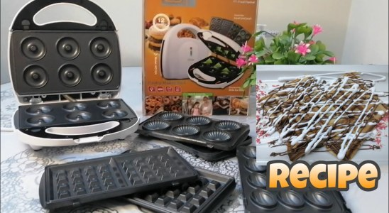HOW TO MAKE EASY DONUTS & WAFFLES BY PASTRY MAKER