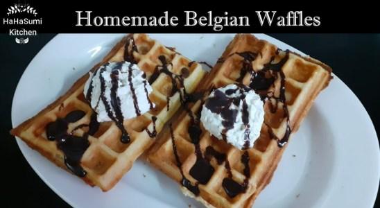 Homemade Belgian Waffles | Crispy Waffle Recipe in Tamil | HaHaSumi Kitchen | Easy Waffle recipe