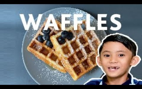 Homemade Waffle recipe | Making kids-friendly waffles | The roks