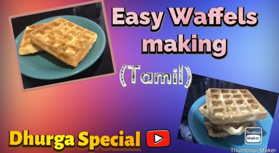 How to make waffles in Tamil /easy waffles recipe /how to make biscuits in Tamil/recipes with flour