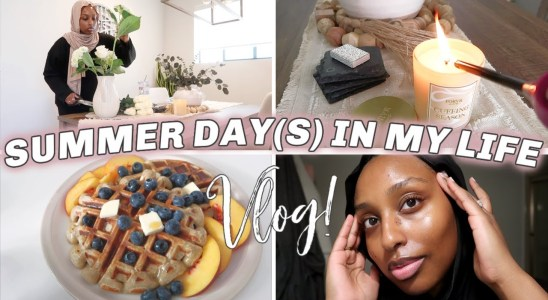 SUMMER DAYS IN MY LIFE VLOG | Healthy Morning Routine, Waffle Recipe & Skincare | Aysha Harun