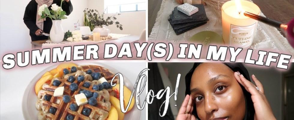 SUMMER DAYS IN MY LIFE VLOG   Healthy Morning Routine, Waffle Recipe & Skincare   Aysha Harun